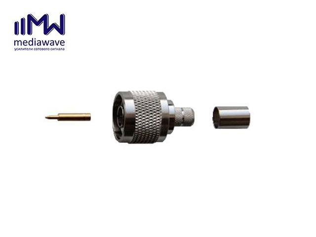 MediaWave MW-J-N5M - разъем N-111, N-типа, вилка, для кабеля 5D-FB, обжимной