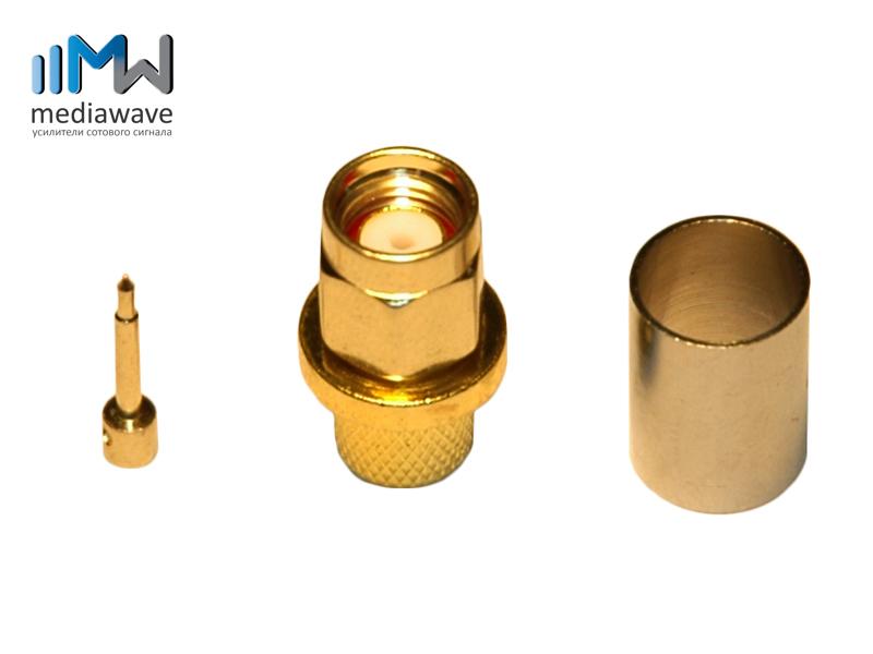 Разъем SMA-типа, male, вилка, для кабеля 5D-FB, обжимной - MediaWave MW-J-S5M