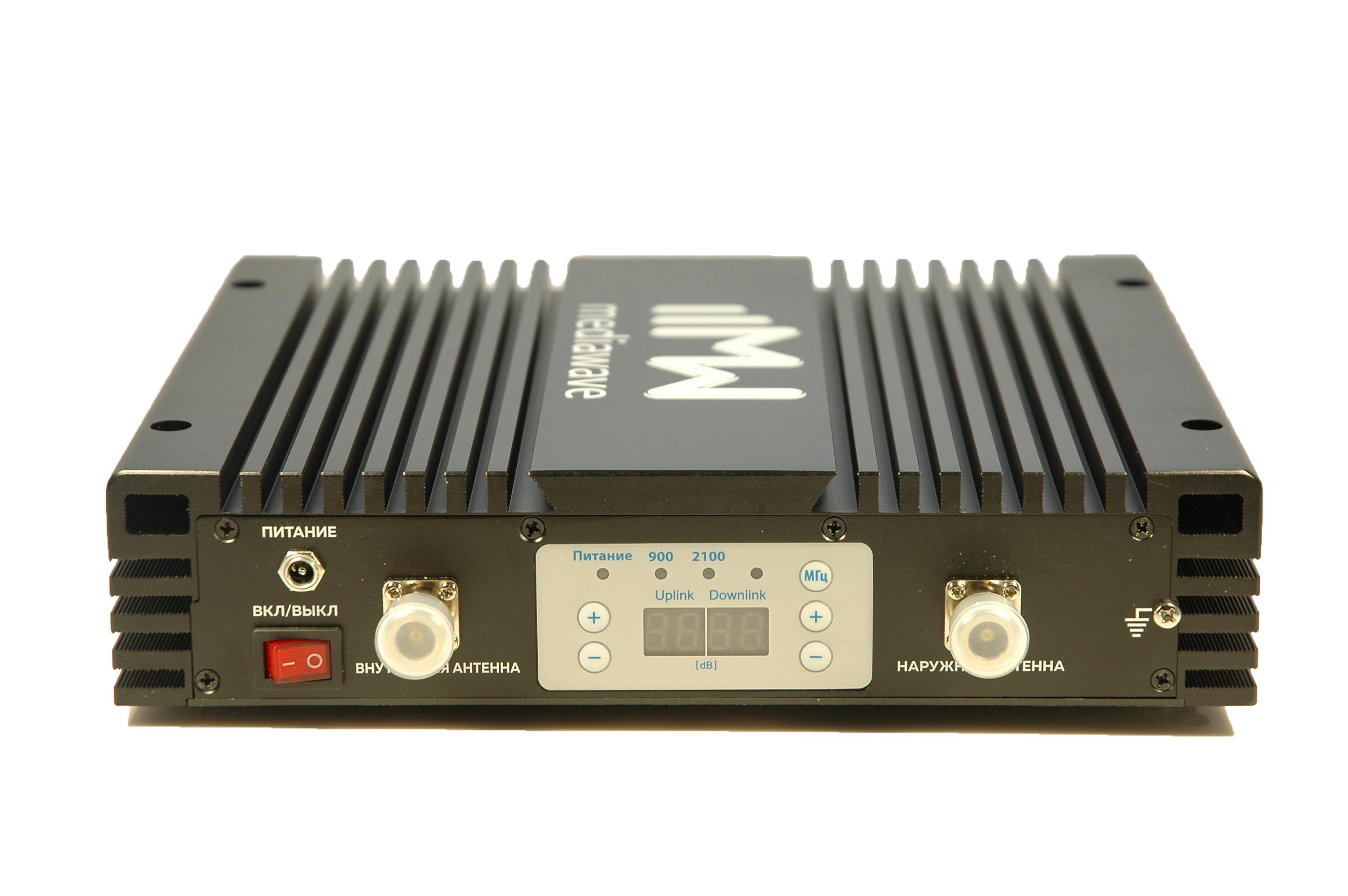 MediaWave MWD-EGW-BST30 - линейный усилитель (бустер) в стандарте связи EGSM / 3G 900/2100 МГц