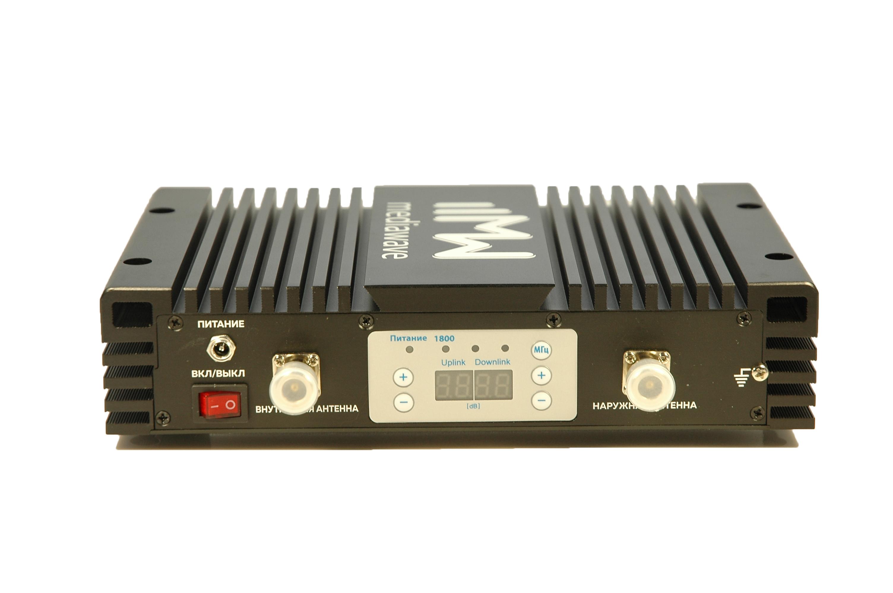 Линейный усилитель (бустер) в стандарте связи GSM / LTE 1800 МГц - MediaWave MWS-D-BST30