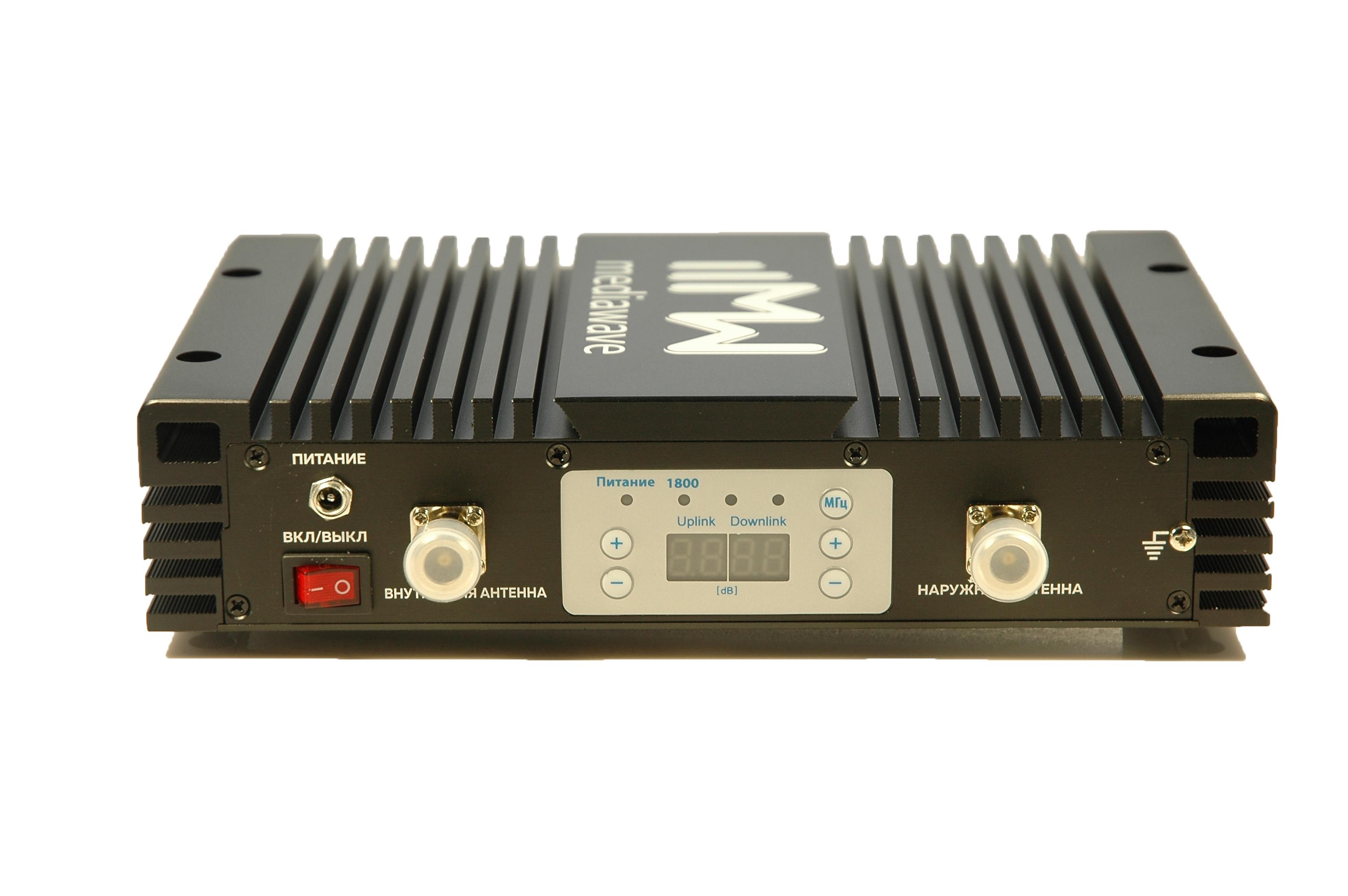 Линейный усилитель (бустер) в стандарте связи GSM / 4G-LTE 1800 МГц - MediaWave MWS-D-BST33