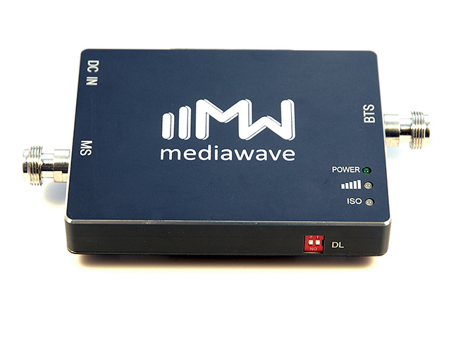 Линейный усилитель (бустер) в стандарте связи 3G 2100 МГц - MediaWave MWS-W-BST20