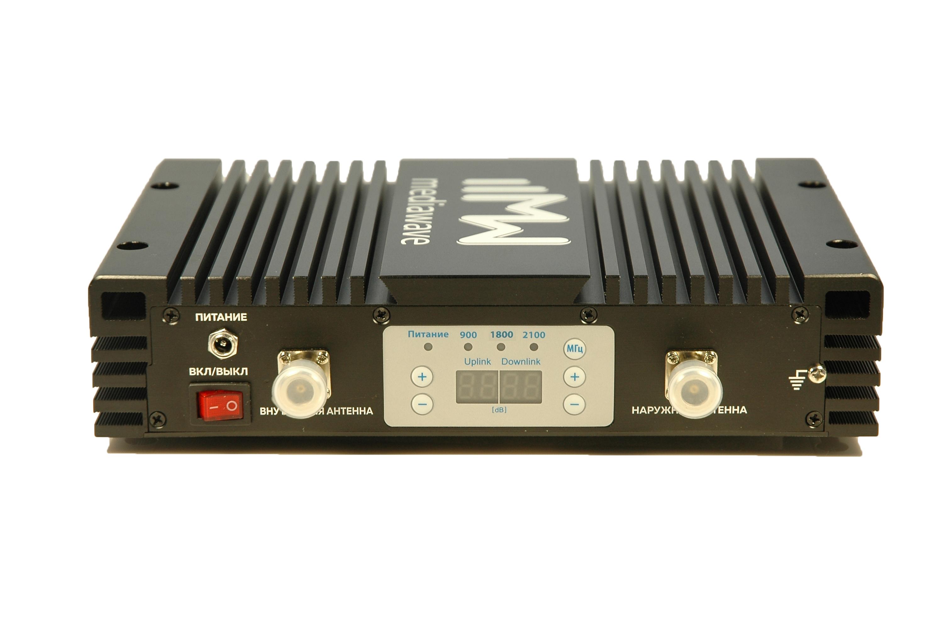 Репитер сотового сигнала GSM/3G/4G-LTE 900/1800/2100 МГц - MediaWave MWT-EGDW-BM23